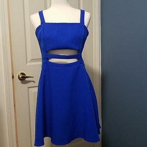 Gorgeous blue strappy Express dress w/tag